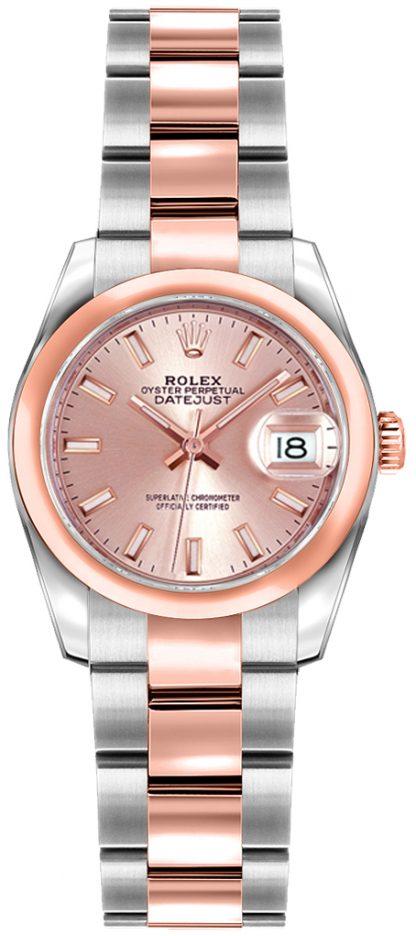 replique Rolex Lady-Datejust 26 cadran rose montre 179161