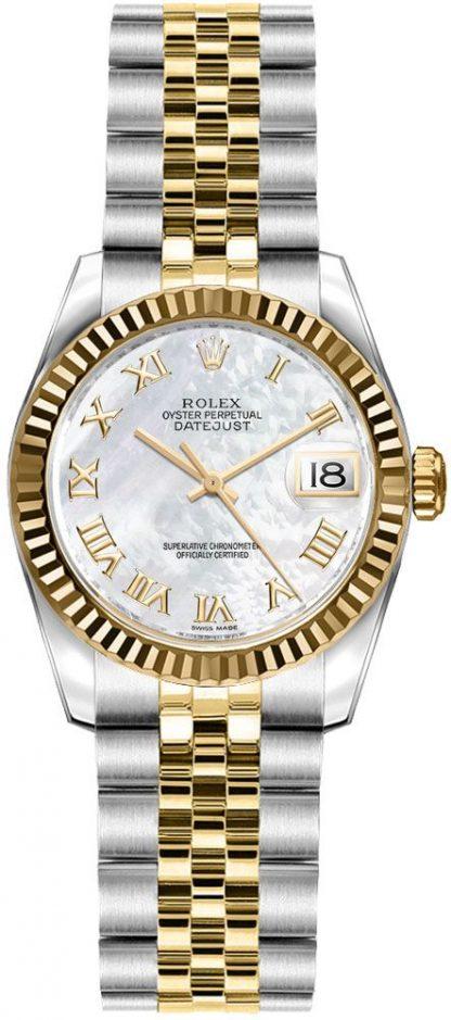 replique Rolex Lady-Datejust 26 nacre montre à cadran chiffre romain 179173