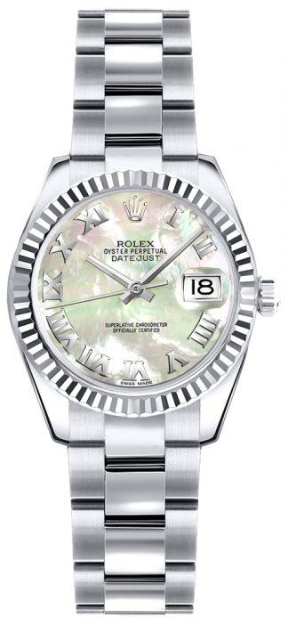 replique Rolex Lady-Datejust 26 nacre montre à chiffres romains 179179