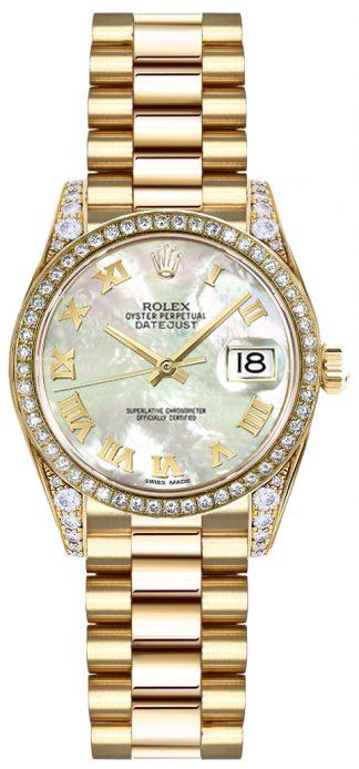 replique Rolex Lady-Datejust 26 nacre montre cadran chiffre romain 19158