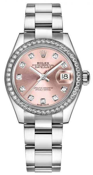 replique Rolex Lady-Datejust 28 Pink Diamond Oyster Bracelet Watch 279384RBR