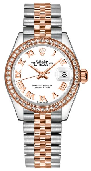replique Rolex Lady-Datejust 28 White Dial Diamond Jubilee Women's Watch 279381RBR