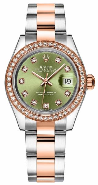 replique Rolex Lady-Datejust 28 cadran diamant vert 279381RBR