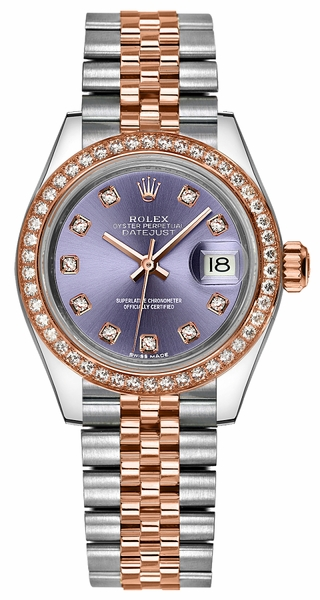 replique Rolex Lady-Datejust 28 cadran diamant violet 279381RBR