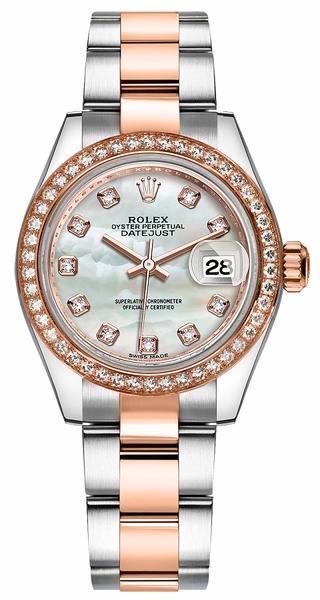 replique Rolex Lady-Datejust 28 nacre montre en diamant 279381RBR