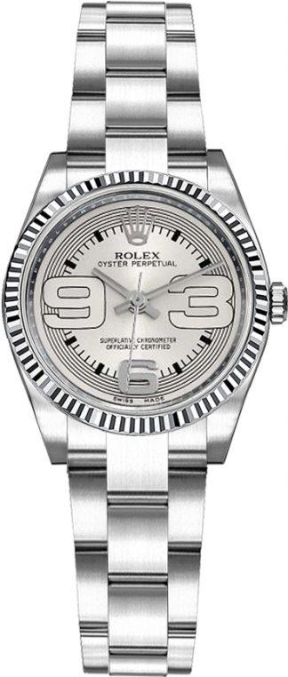replique Rolex Oyster Perpetual 26 cadran argenté Oyster Bracelet Montre 176234