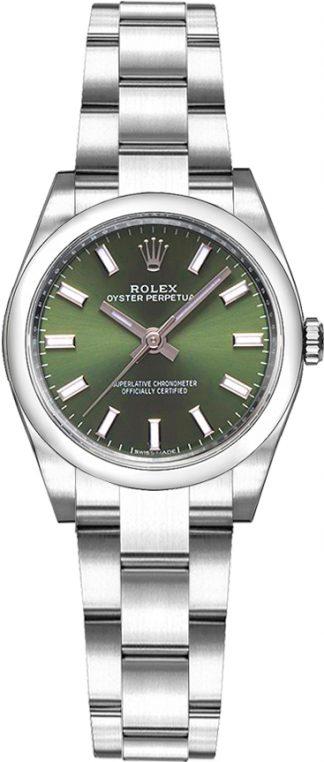replique Rolex Oyster Perpetual 26 cadran vert 176200