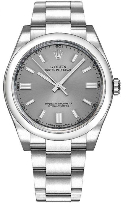 replique Rolex Oyster Perpetual 36 cadran en acier Montre suisse 116000