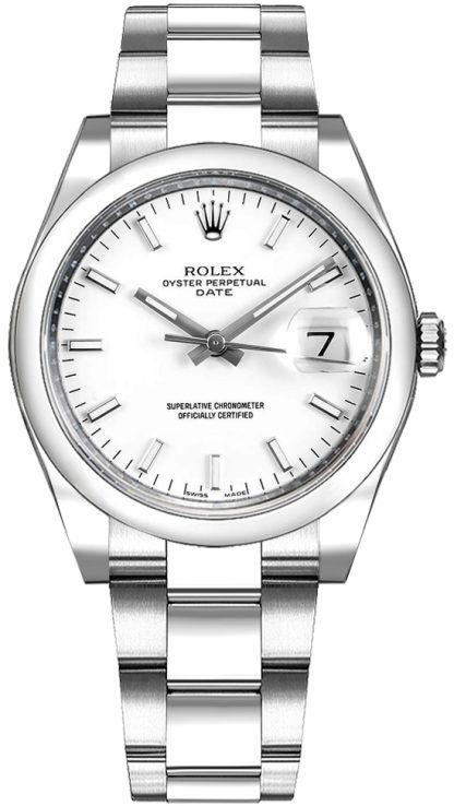 replique Rolex Oyster Perpetual Date 34 cadran blanc Montre de luxe 115200