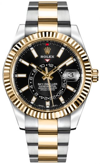 replique Rolex Sky-Dweller Black Dial Men's Watch 326933