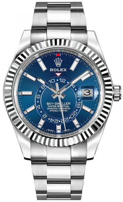replique Rolex Sky-Dweller Blue Dial 42mm Luxury Men's Watch 326934