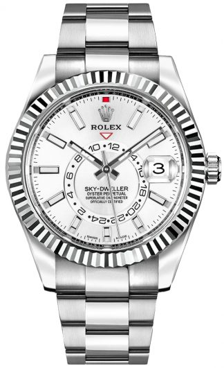 replique Rolex Sky-Dweller White Dial Luxury Watch 326934