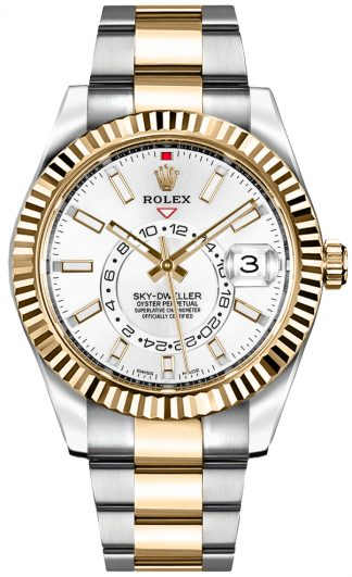 replique Rolex Sky-Dweller White Dial Men's Watch 326933