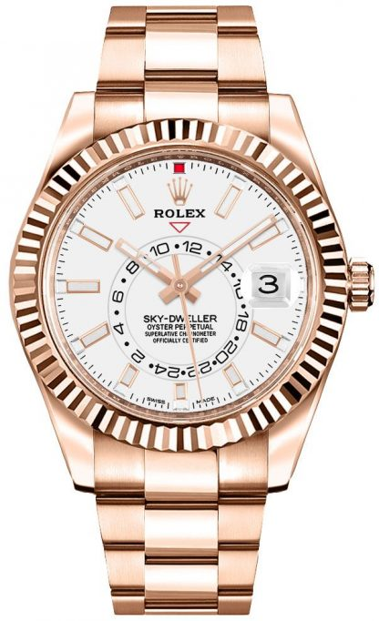 replique Rolex Sky-Dweller White Dial Men's Watch 326935